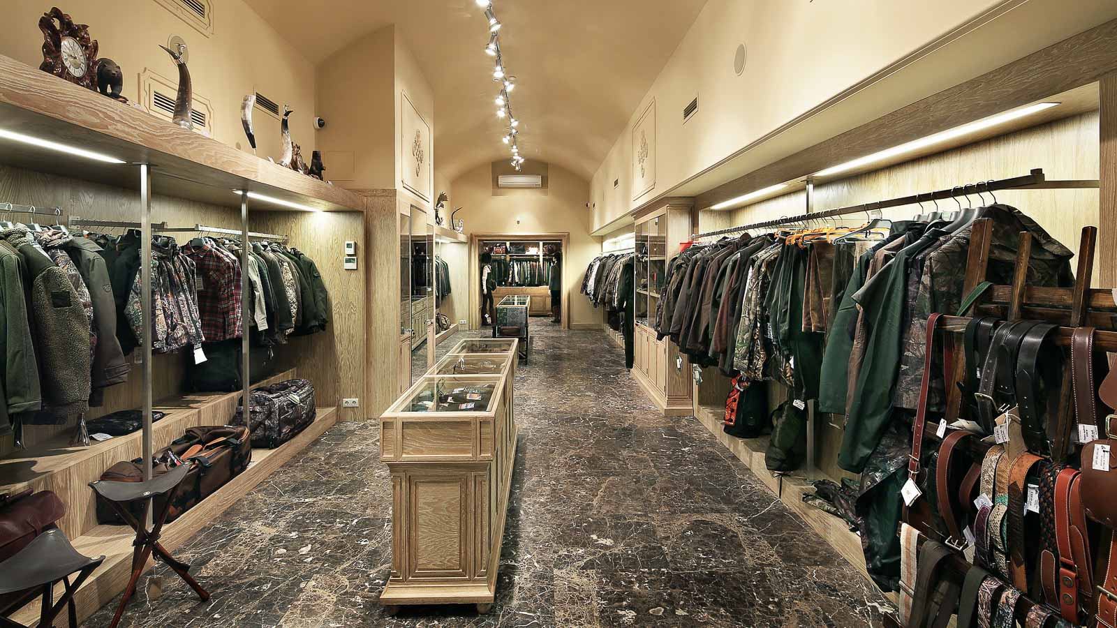 Interior for hunting clothes shop