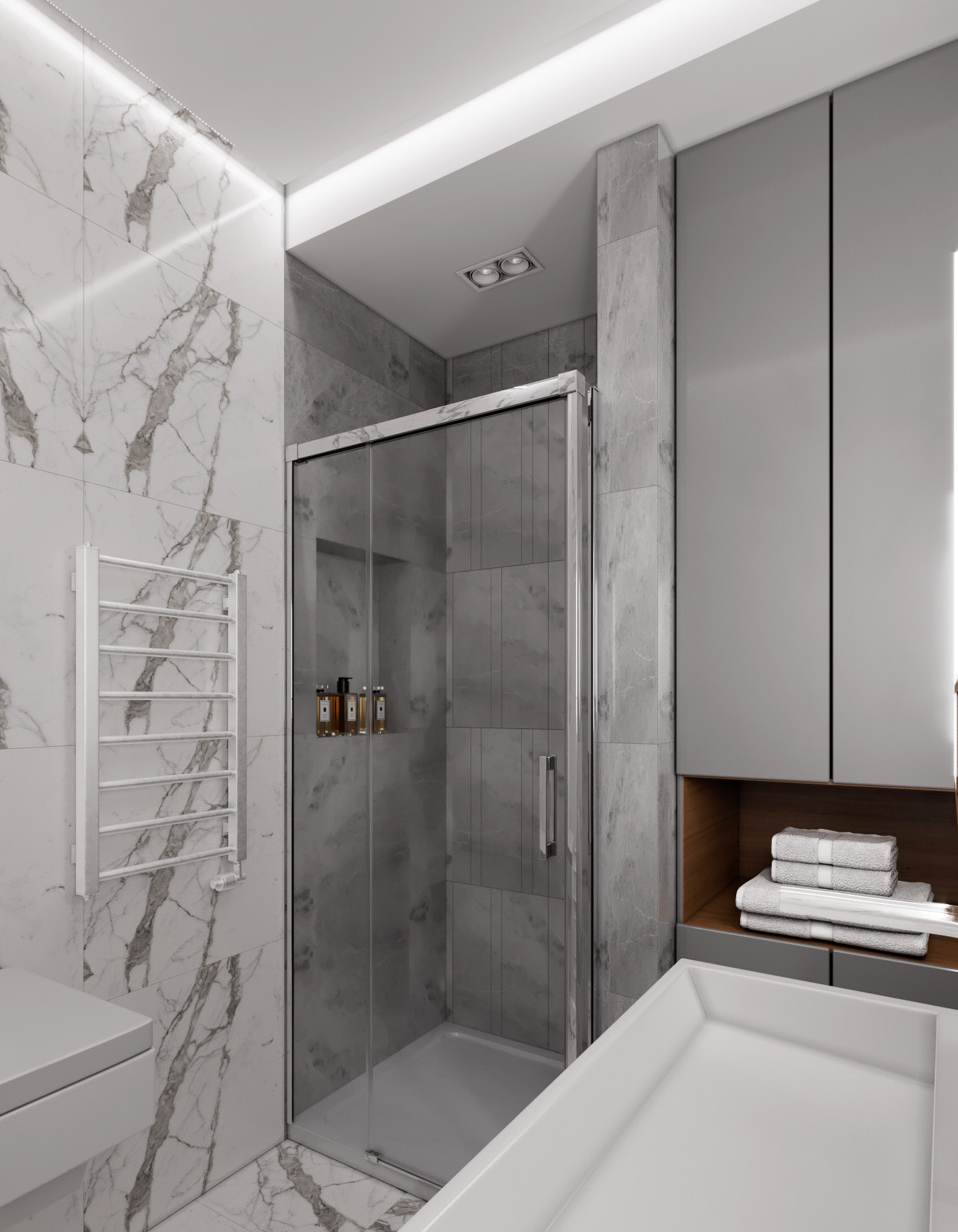 Option for bathroom interior design by Lera Bykova