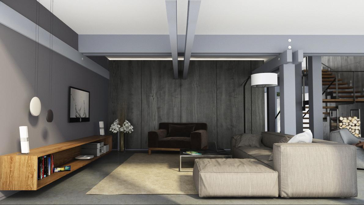 Option for living room- interior design by Lera Bykova