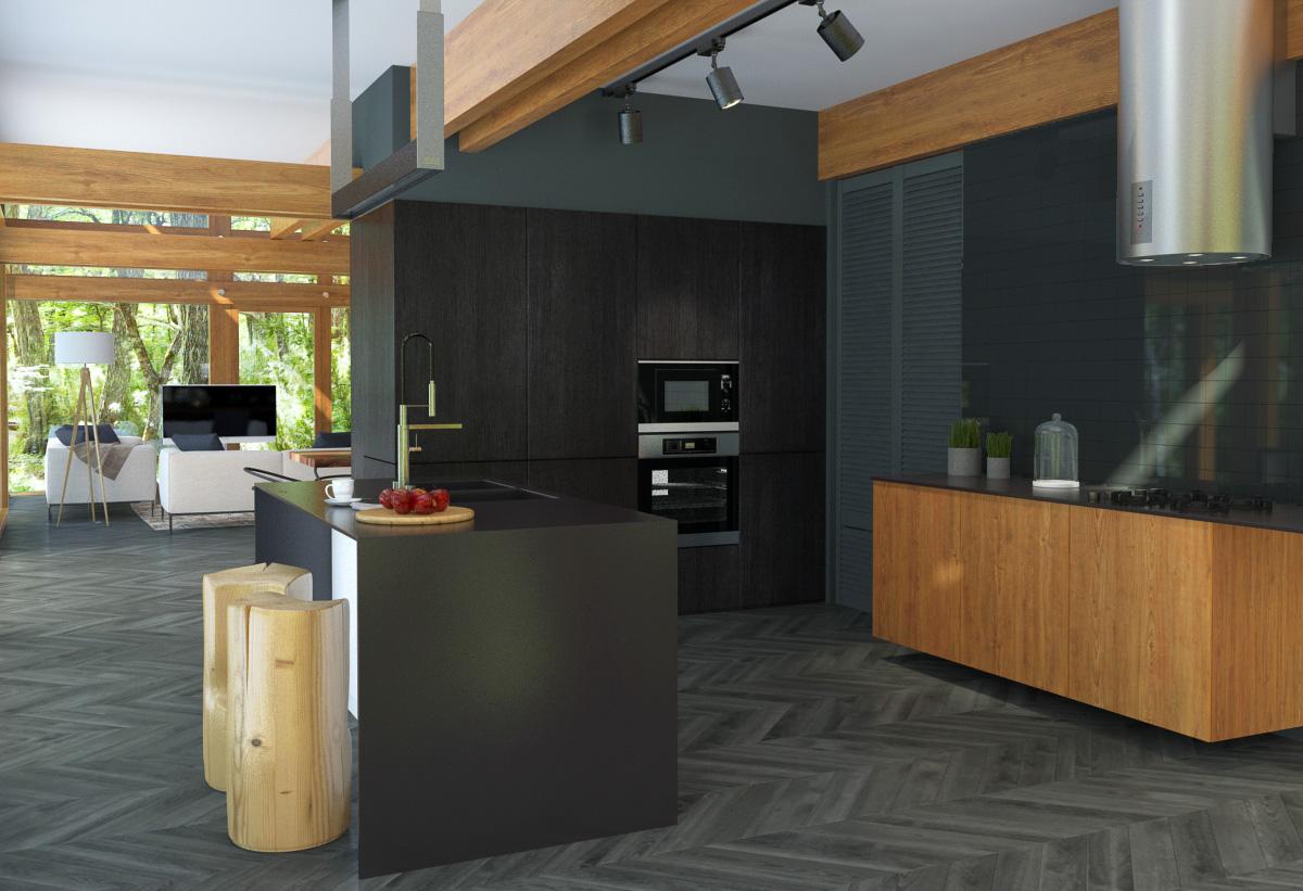 Option for kitchen interior design by Lera Bykova