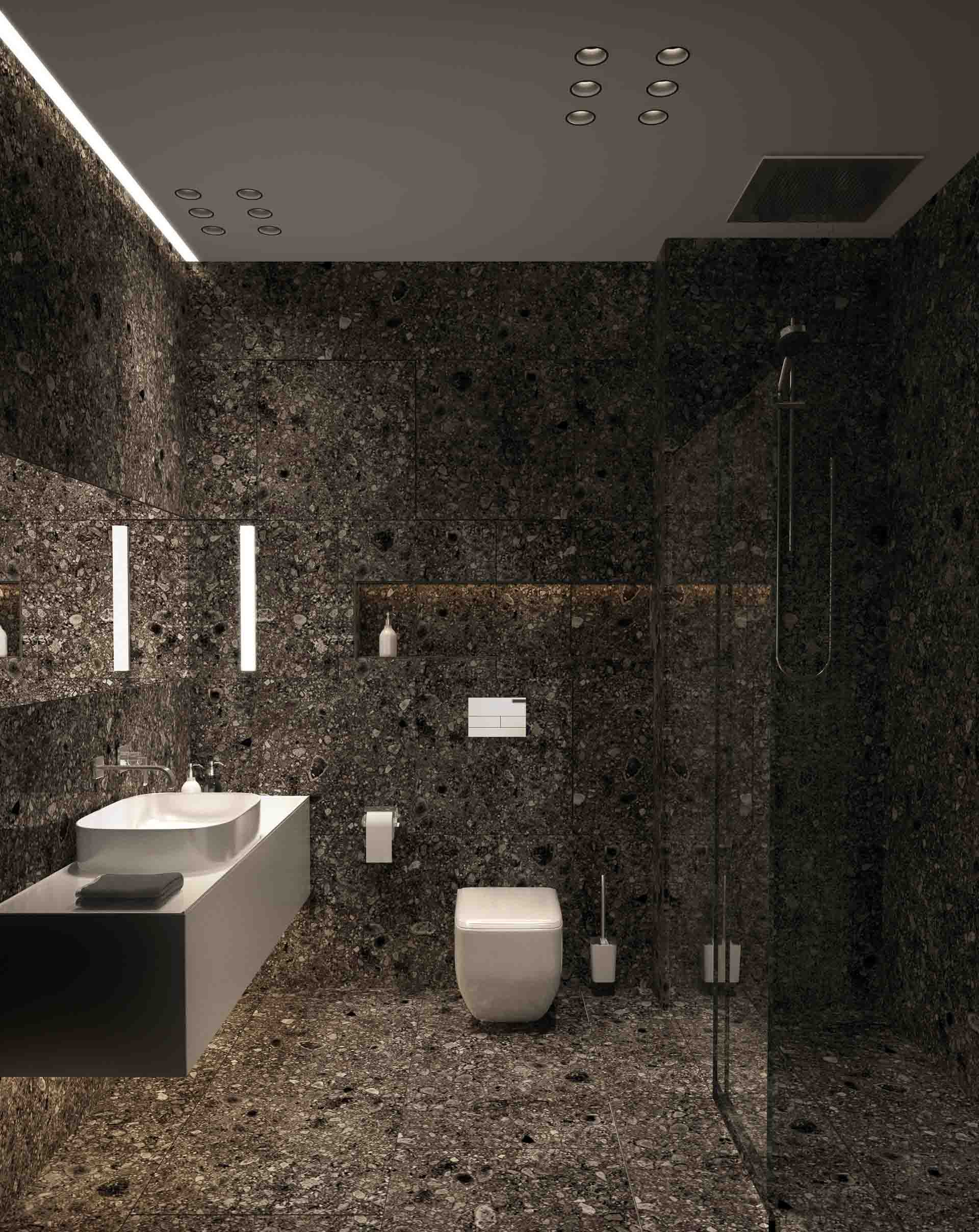 Bathroom interior design by Lera Bykova