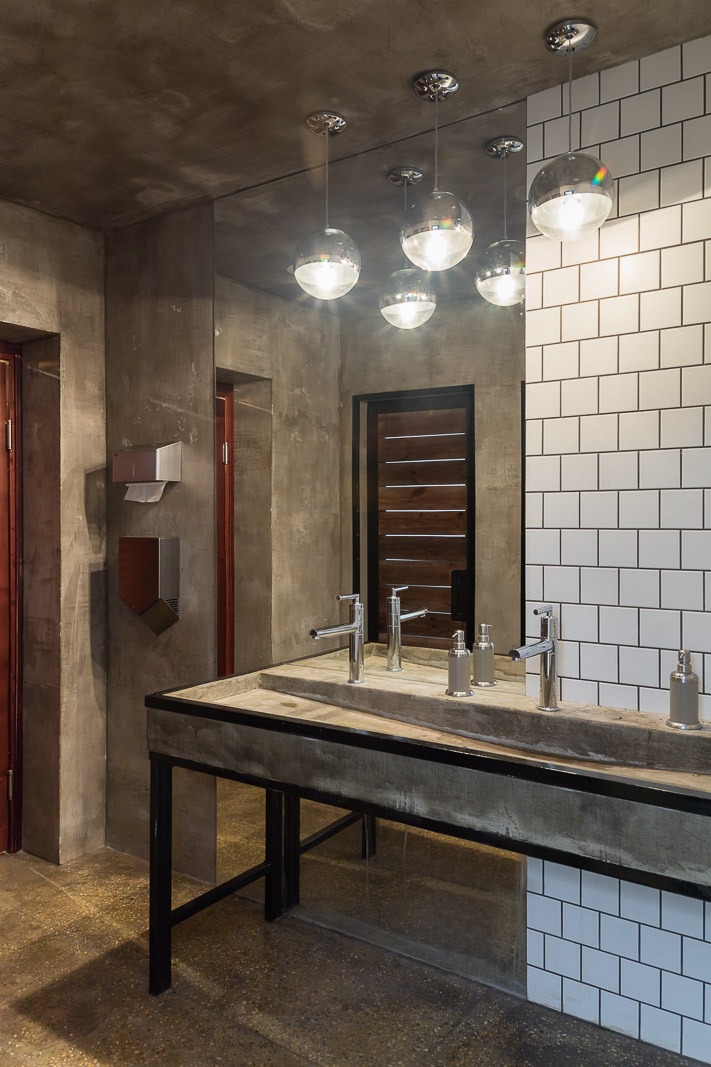 Bathroom with concrete sink
