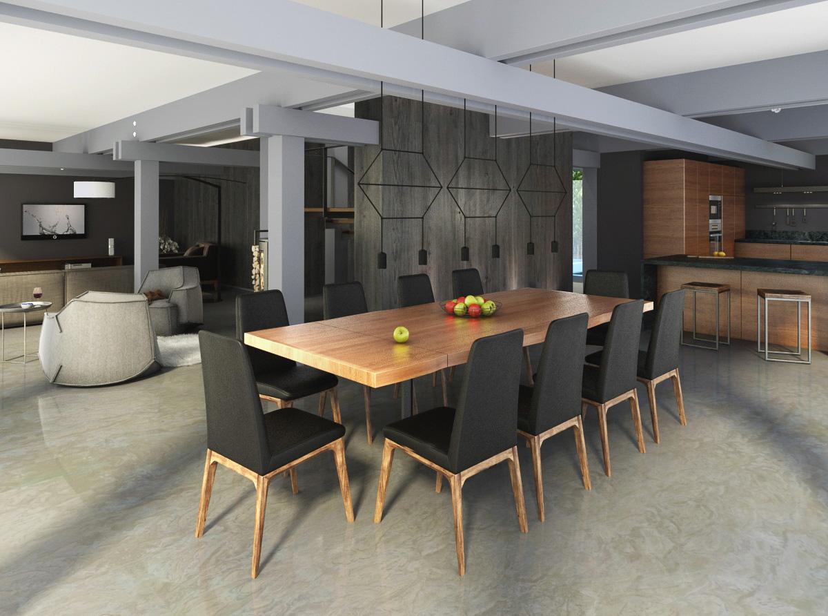 Dining room interior design by Lera Bykova