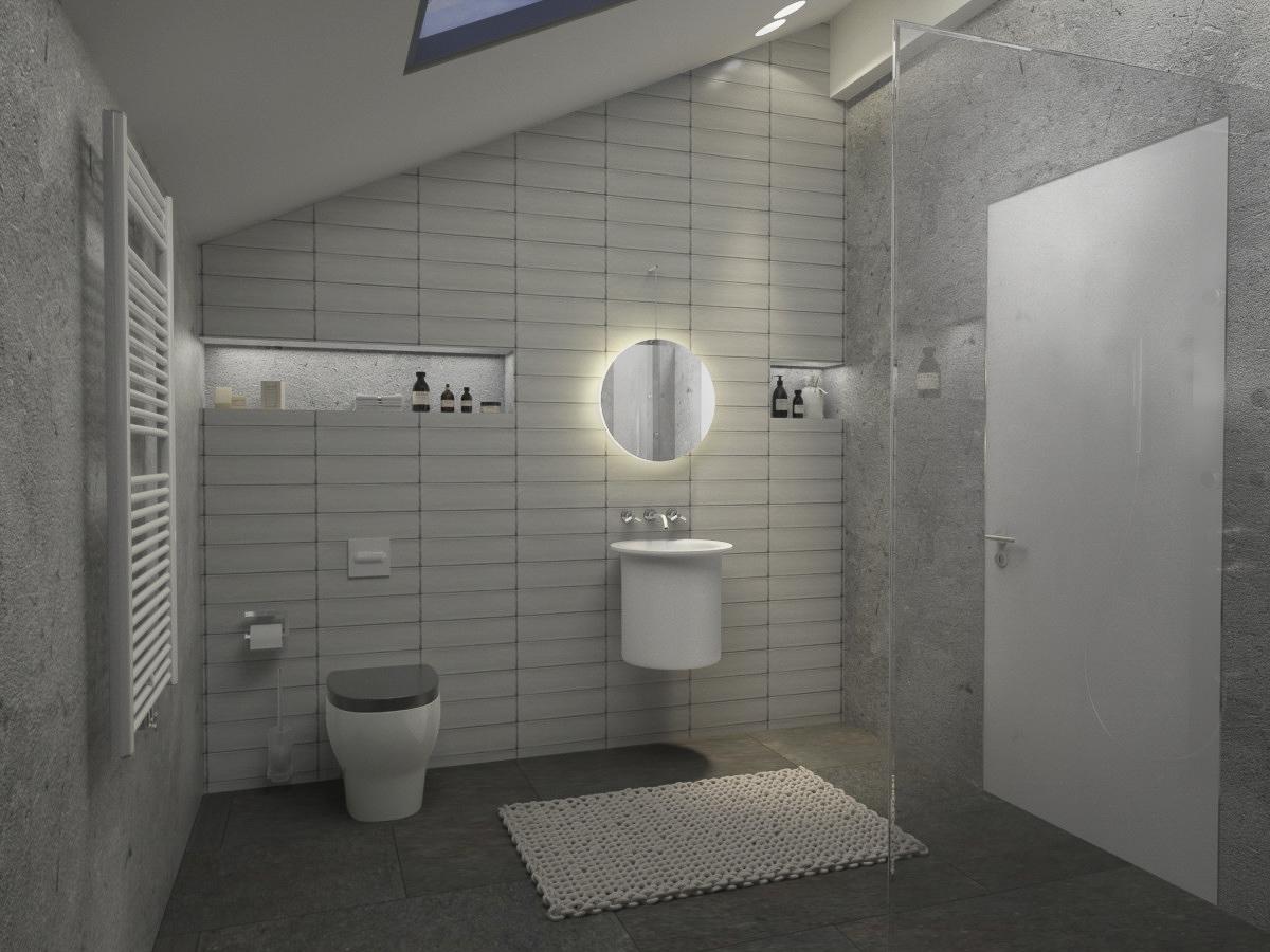 Family bathroom interior design by Lera Bykova