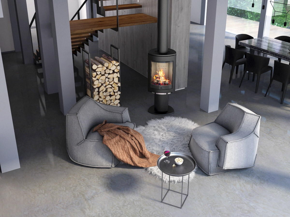 Fireplace interior design by Lera Bykova