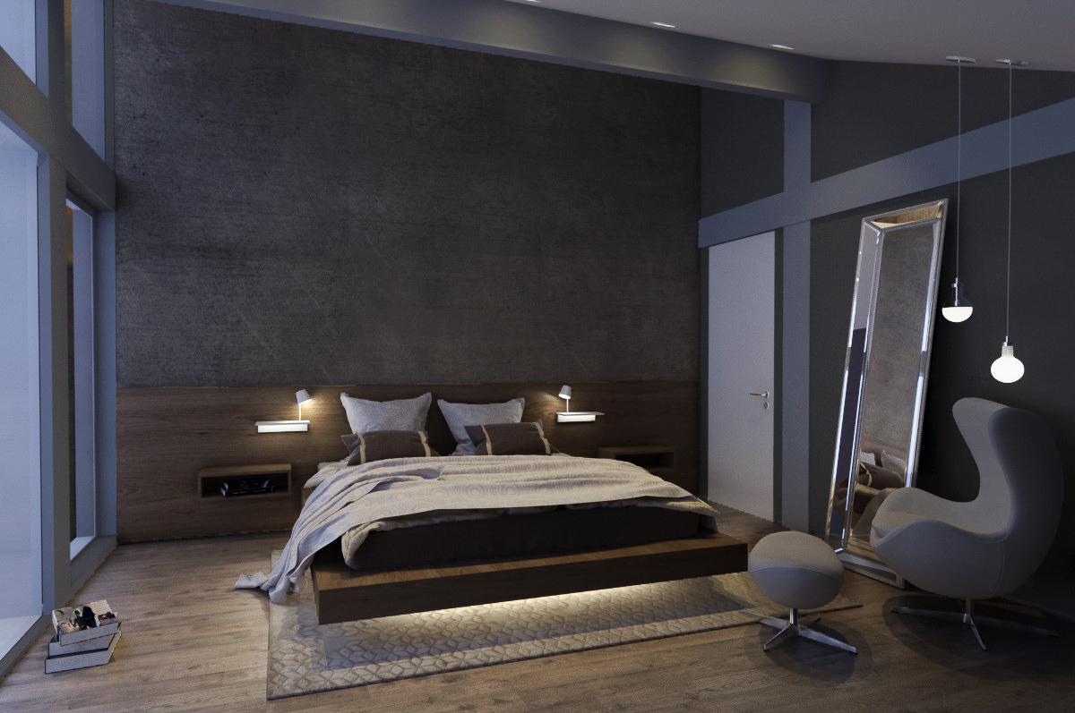 Guest- bedroom interior design by Lera Bykova