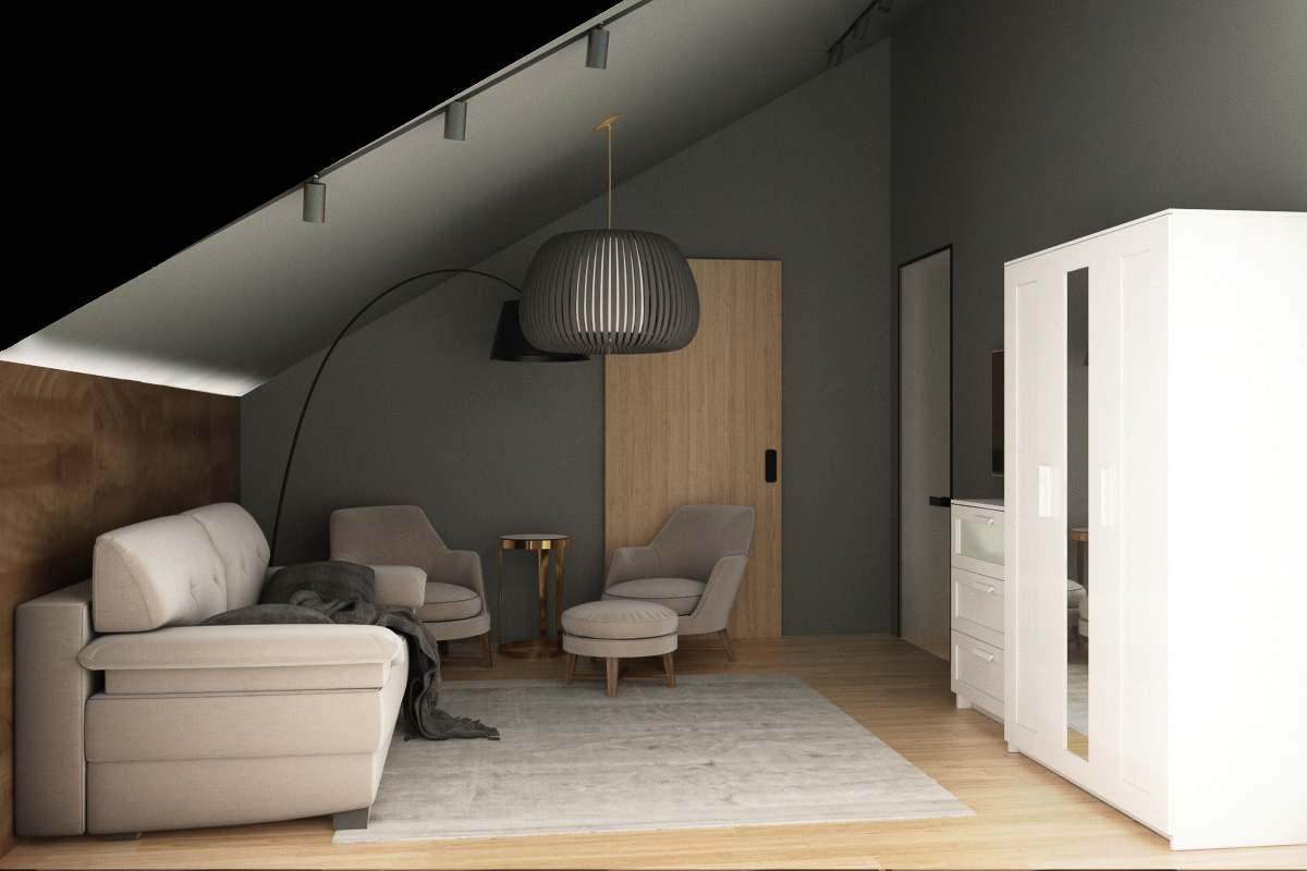 Guest room interior design view 2