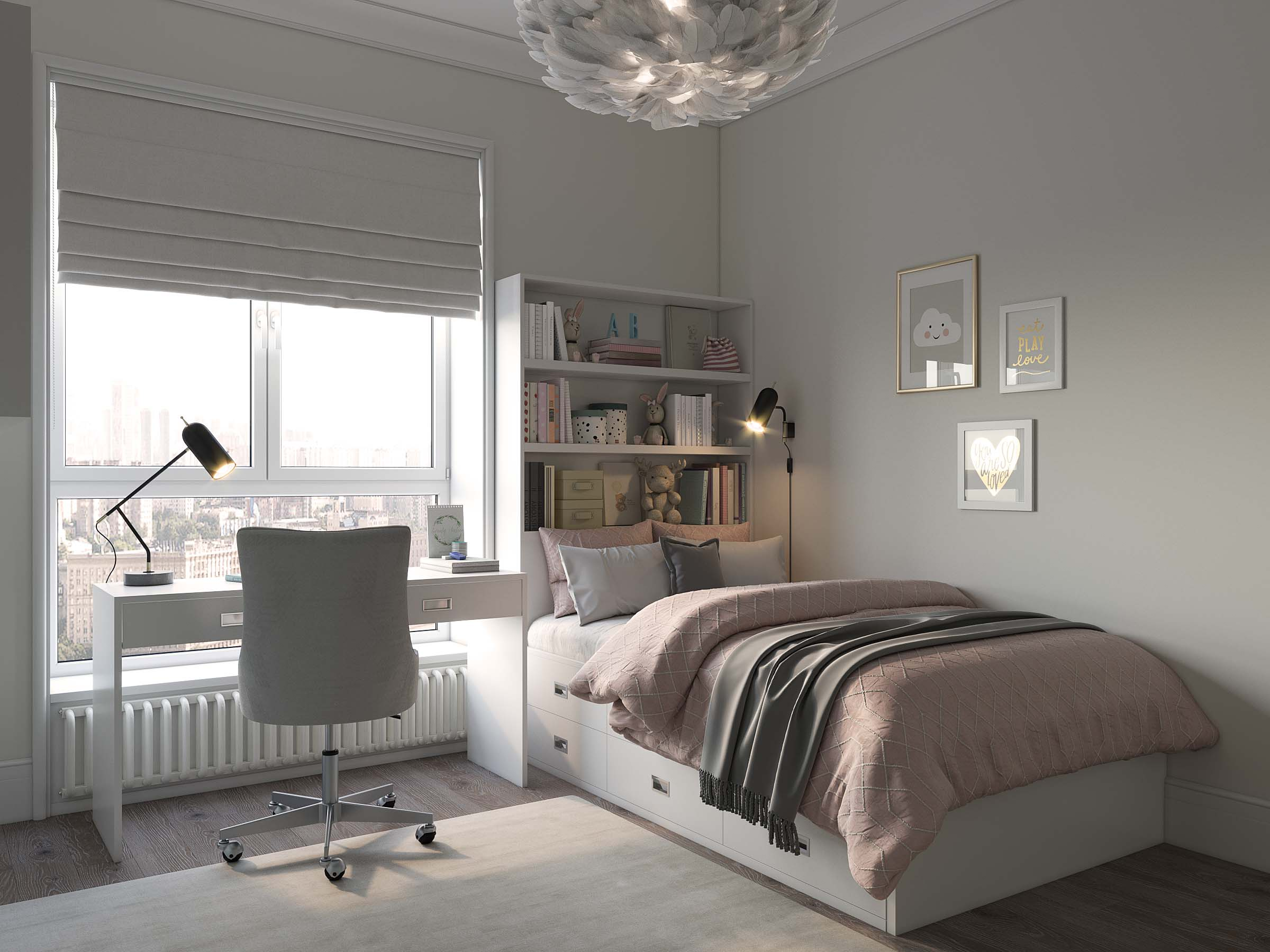 Kids room interior design by Lera Bykova