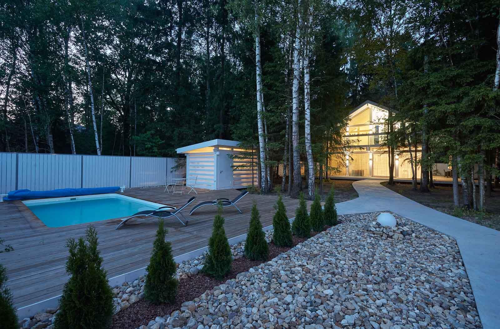 Landscape private house