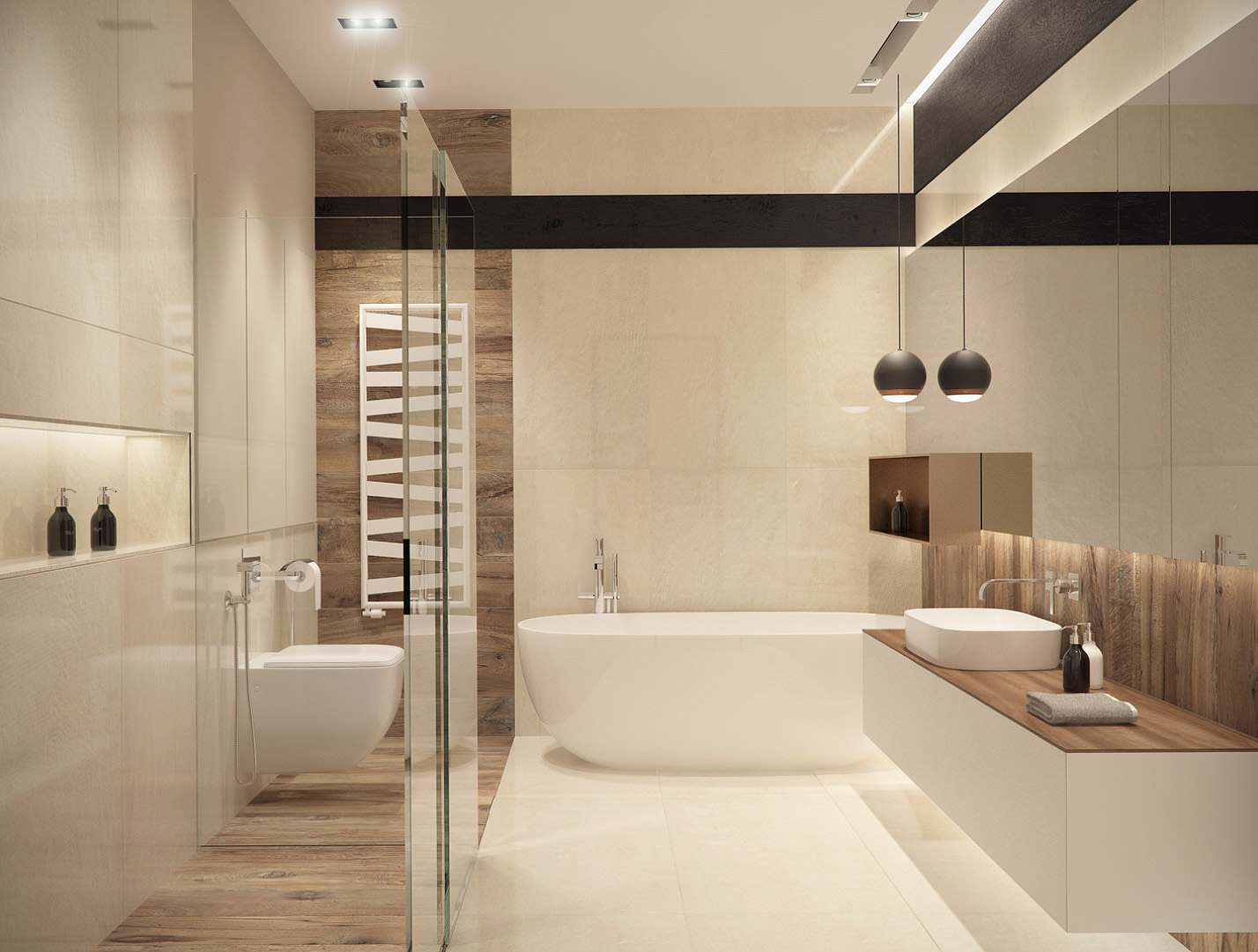 Master bathroom interior design by lera bykova