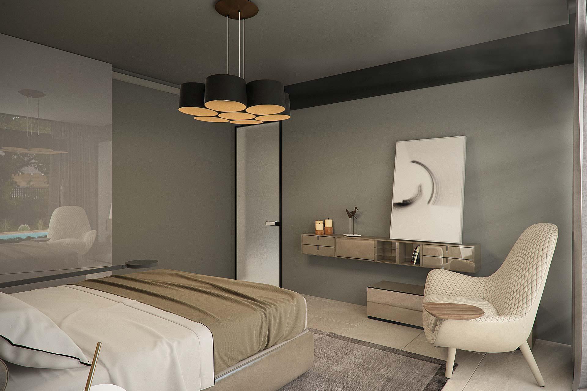 Master bedroom interior design by lera bykova view 2