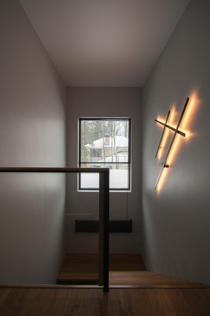 Minimalistic big wall light