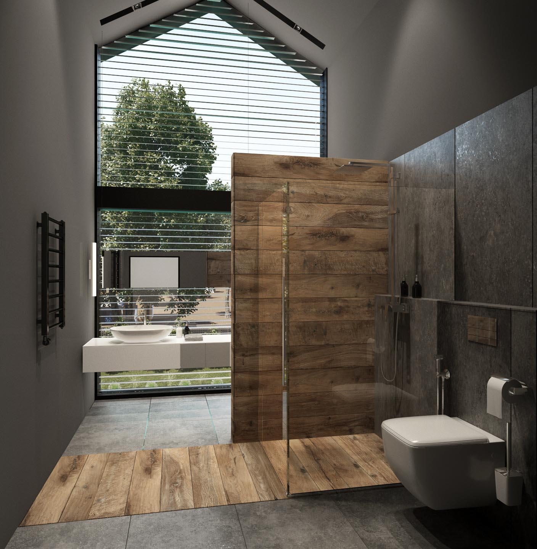 Option 1 bathroom interior design by Lera Bykova