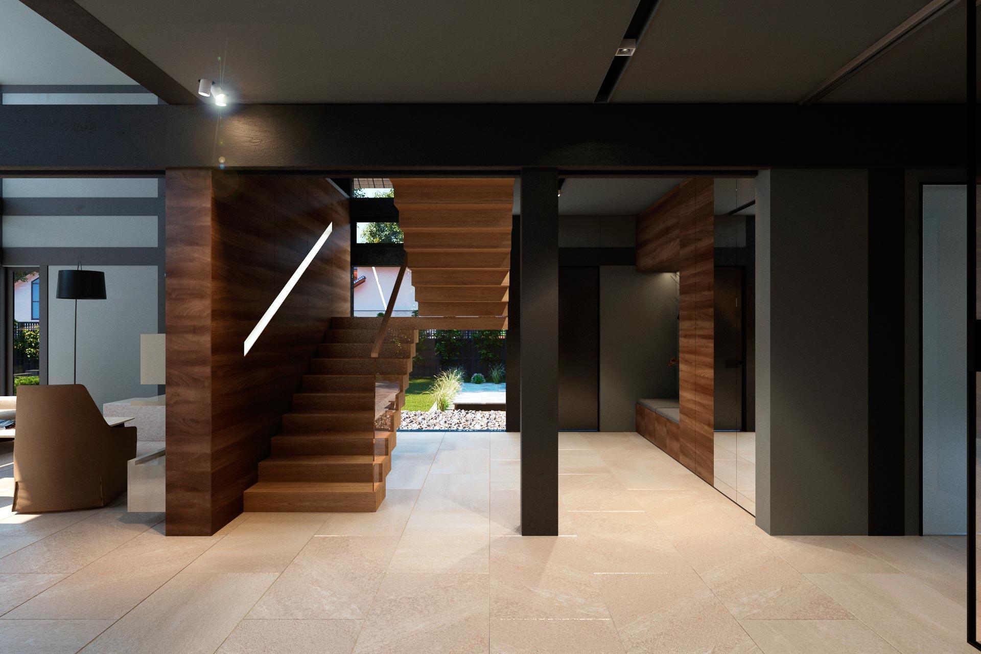 Option 1 -hall interior design