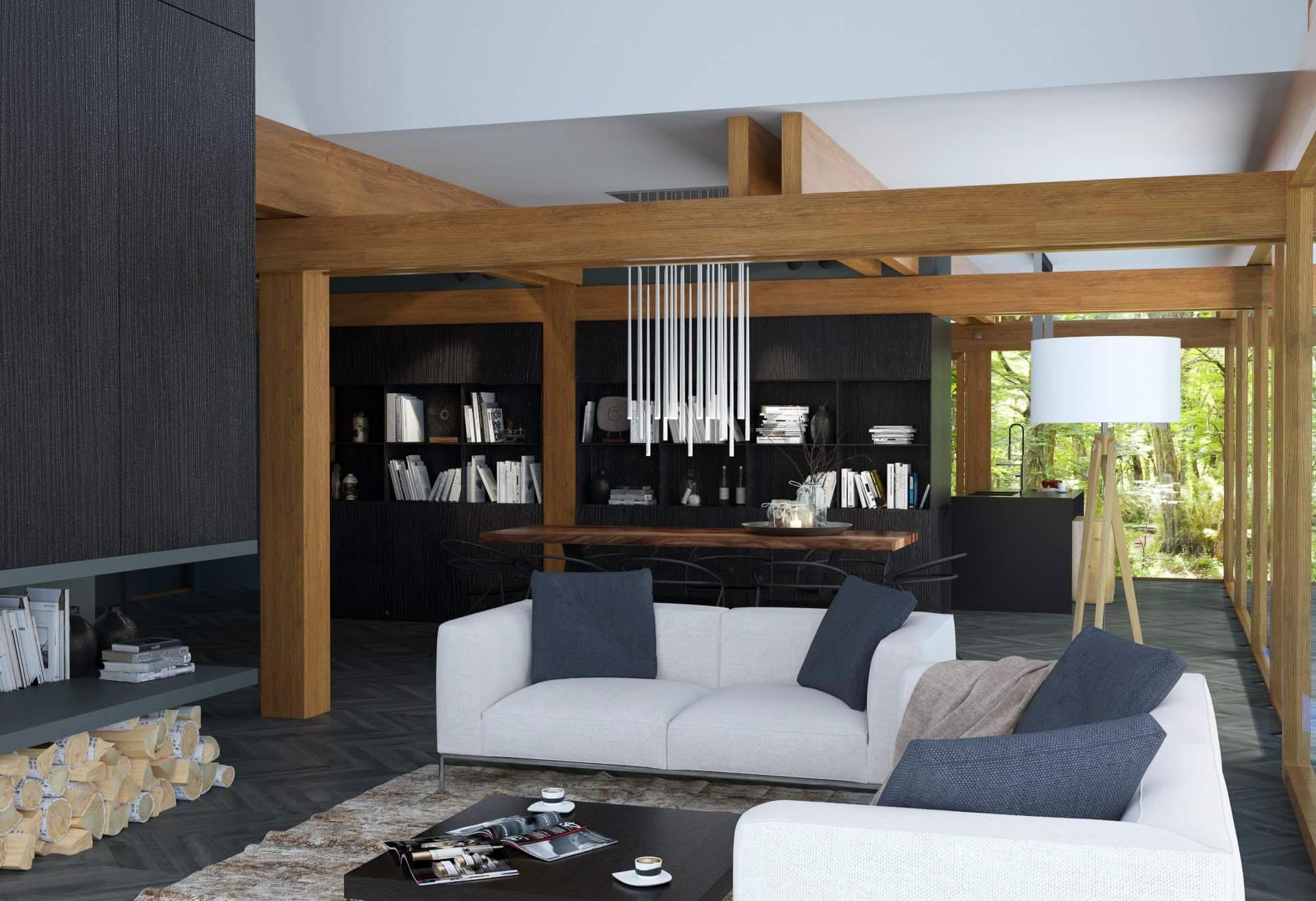 Option for living room interior design by Lera Bykova