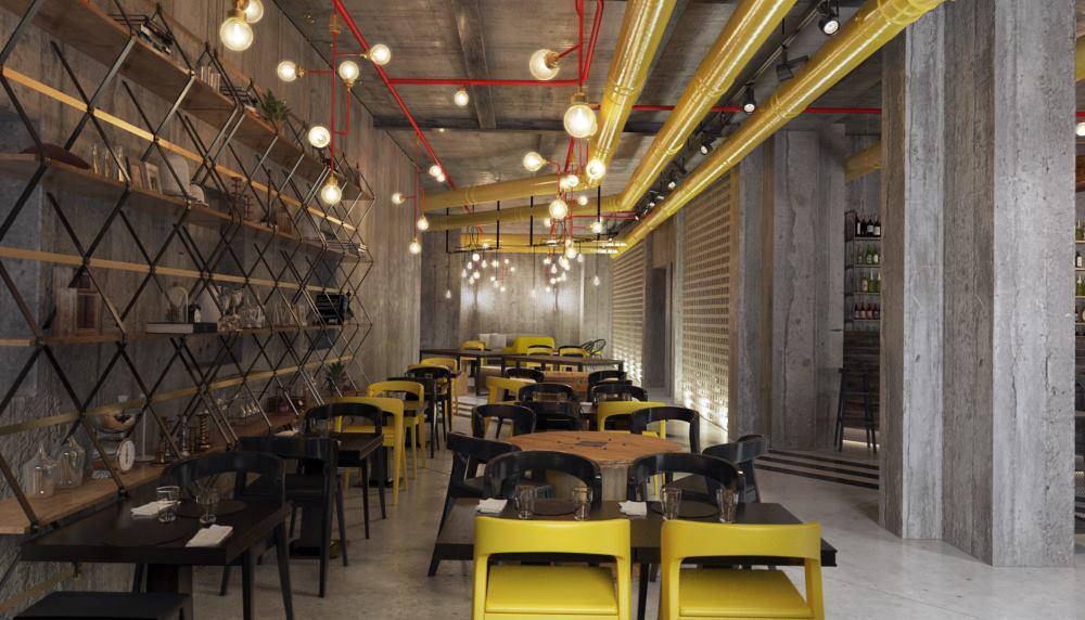 Restaurant interior design by Lera Bykova