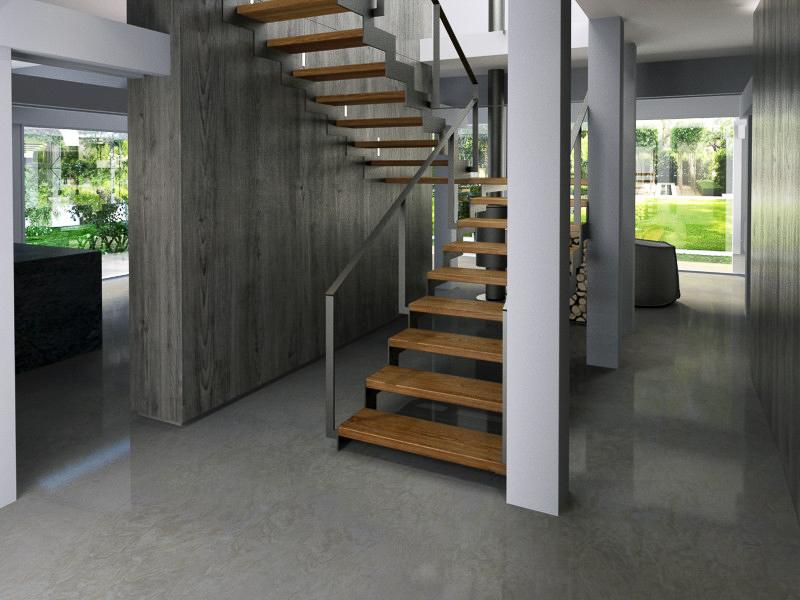 Staircase interior design by Lera Bykova